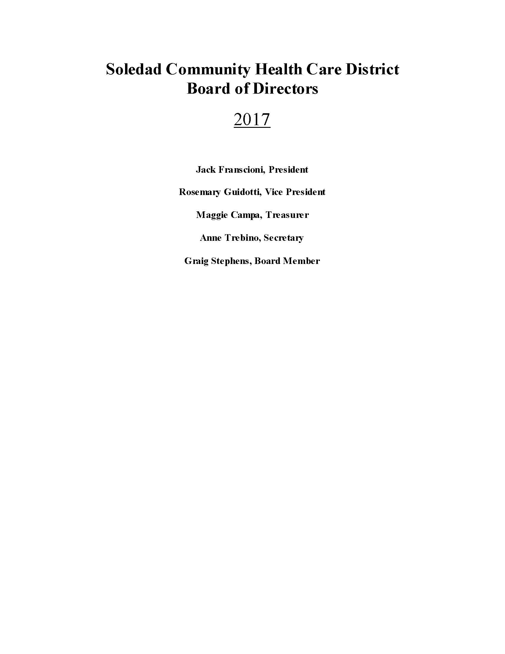 Board of Directors 2017 website list